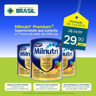 Milnutri+ em oferta na Rede Drogarias Brasil. Arte: Elias Lopes