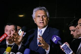 Ronaldo Caiado (DEM), governador de Goiás, fez duras críticas à forma como o presidente Jair Bolsonaro tem administrado a crise do coronavírus Valter Campanato/Agência Brasil