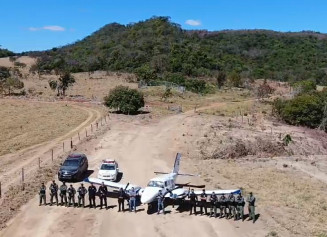 Um dos aviões foi apreendido em Goiás (Foto: divulgação/PF)