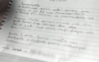 Criança de 9 anos escreve carta para Papai Noel pedindo leite para irmão mais novo e pão, em Anápolis — Foto: Arquivo pessoal/Sarah Pires